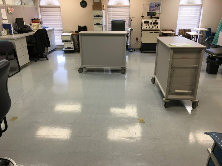 VCT Stripping and Waxing at a Medical Facility in Rockford, IL